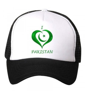 i love pakistan printed cap